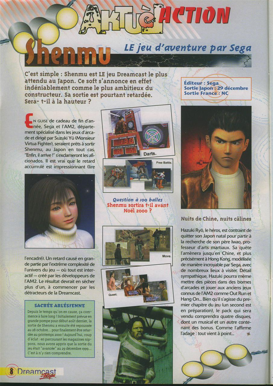 Shenmue (Dreamcast Player #1)