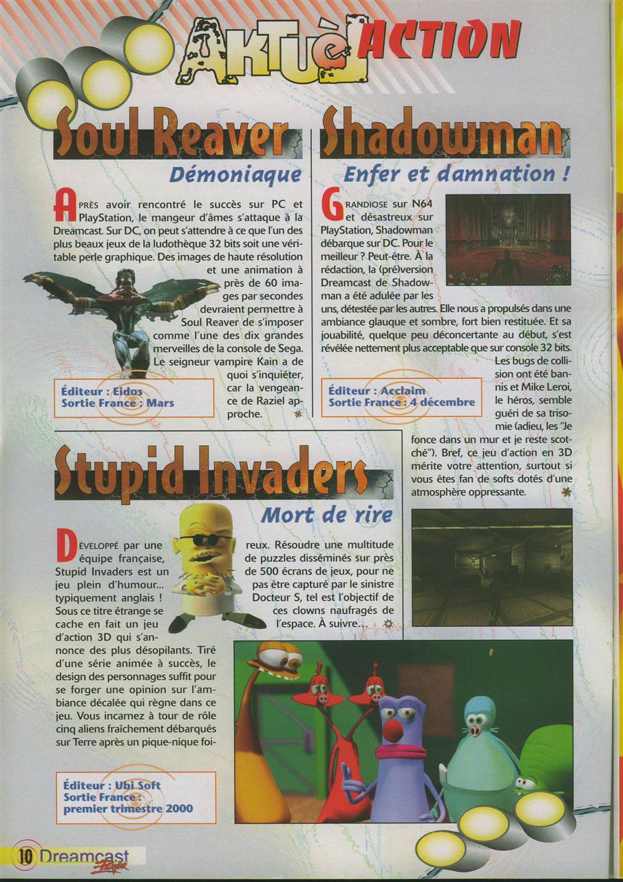 Soul Reaver/Shadowman/Stupid Invaders (Dreamcast Player #1)