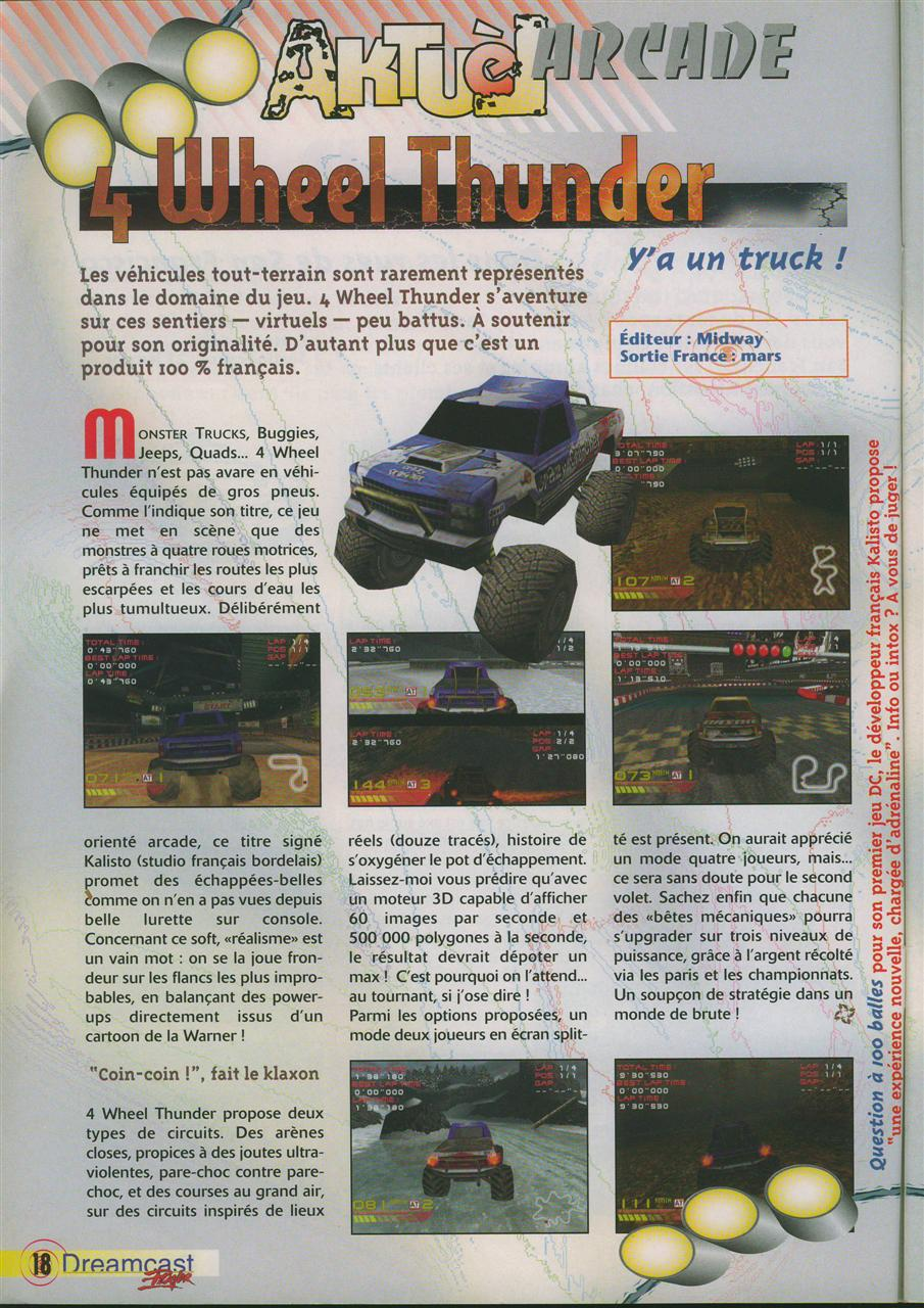 4 Wheel Thunder (Dreamcast Player #1)