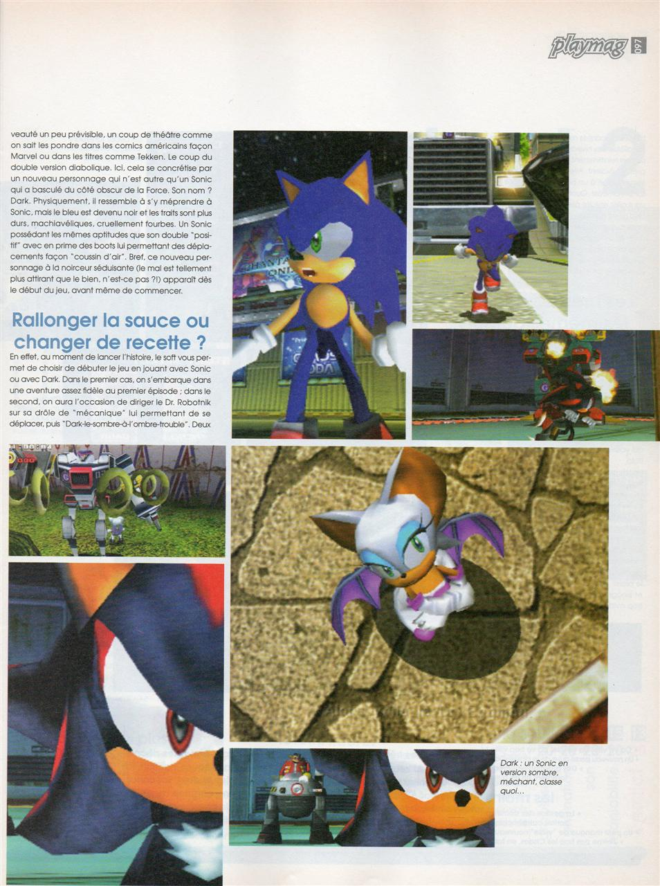 Sonic Adventure (Playmag #53) - p2