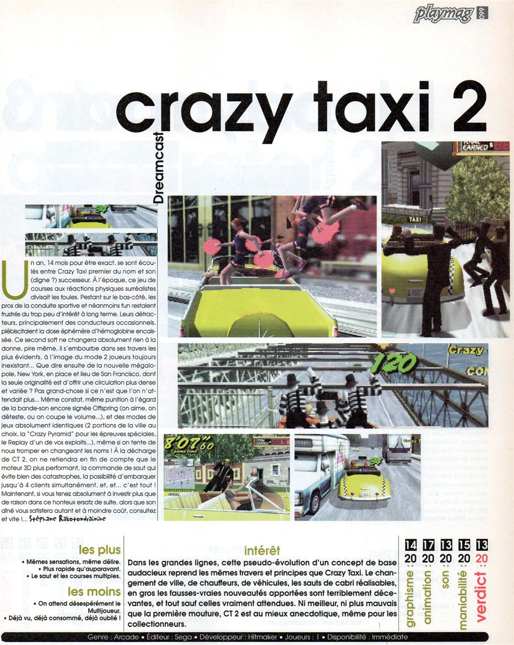 Crazy Taxi (Playmag #53)