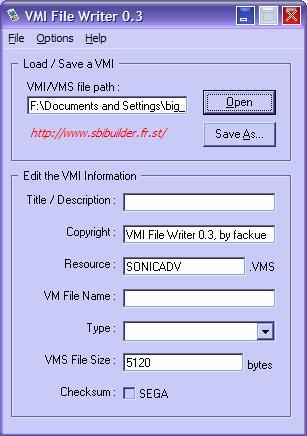 Screenshot VMI Writer 2